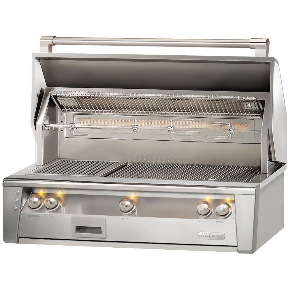 Alfresco LXE 42-Inch Built-In Natural Gas Grill With Sear Zone And Rotisserie - ALXE-42SZ-NG 2910434
