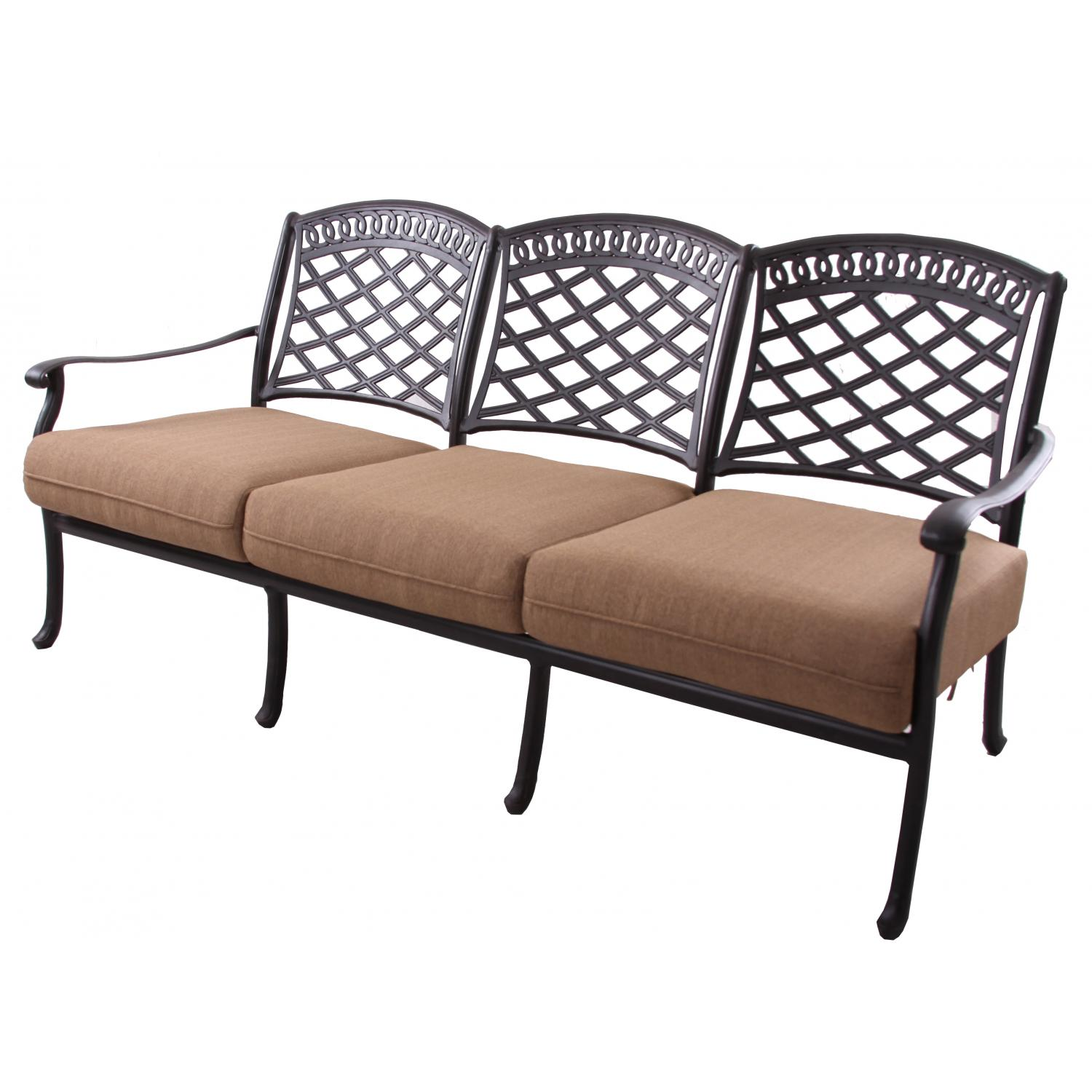Cast Aluminum Deep Seating Patio Loveseat A 877 743 2269 Darlee Darlee Bed Mattress Sale