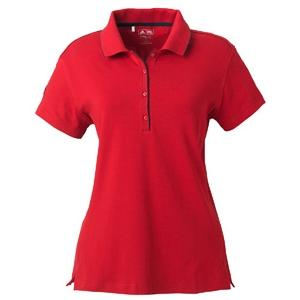 Adidas Golf Ladies ClimaLite Tour Jersey Short Sleeve Polo Shirt 2XL - University Red/Black