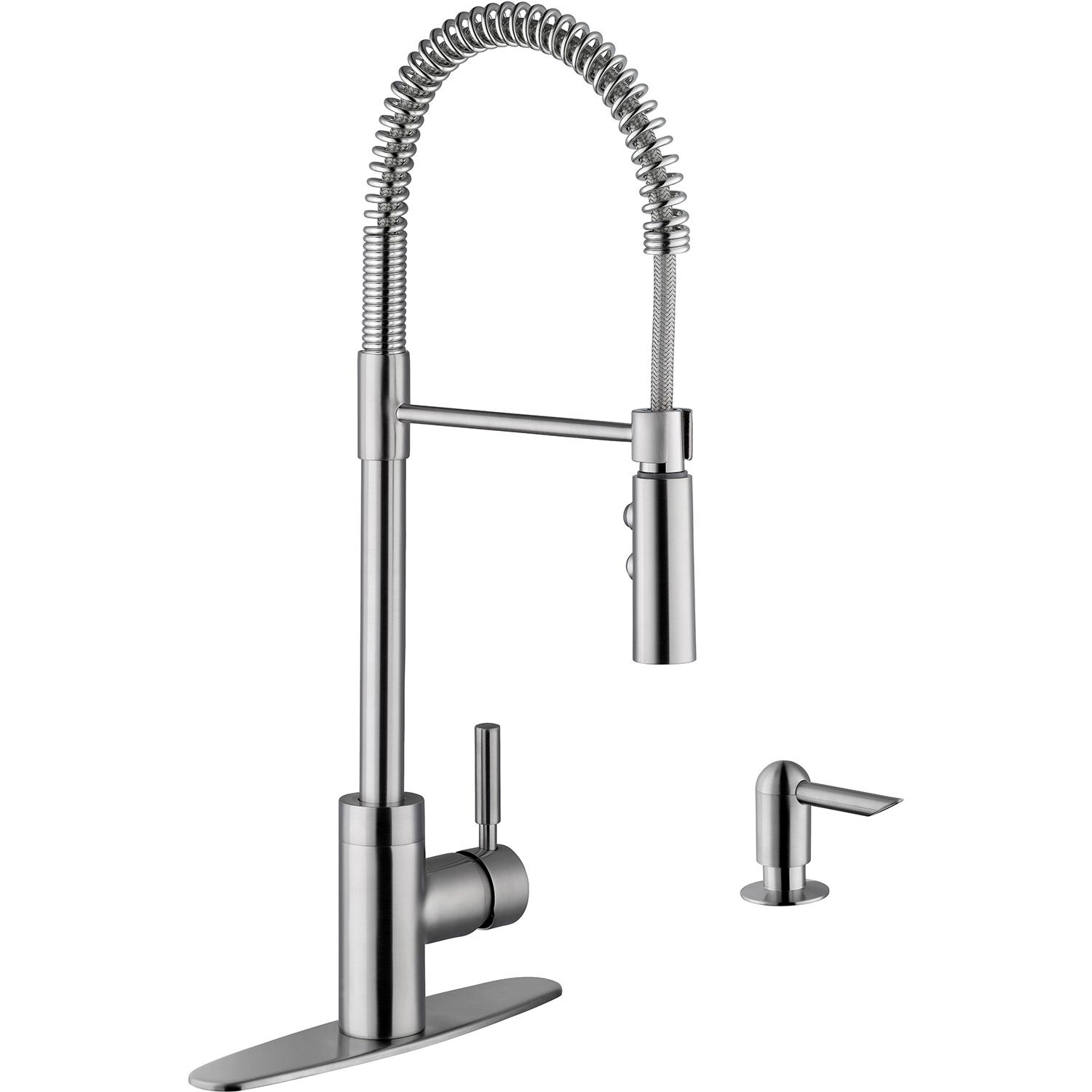Platinum Sinks Single Handle Commercial Style Pull Down H...