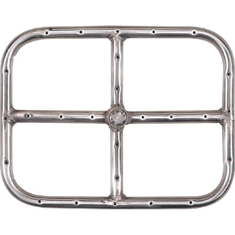 24 x 21 inch stainless rectangular single gas