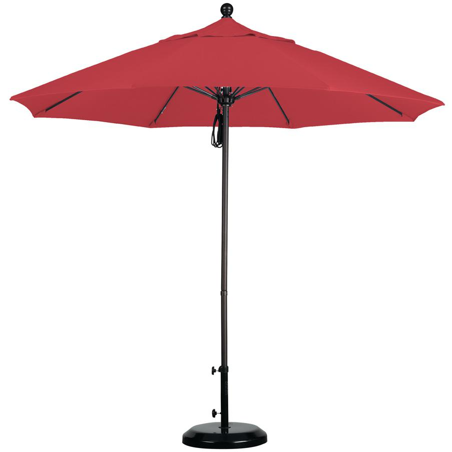 California Umbrella Octagonal 9 Ft Aluminum Patio Umbrella With Pulley Lift And Fiberglass Ribs 2909272
