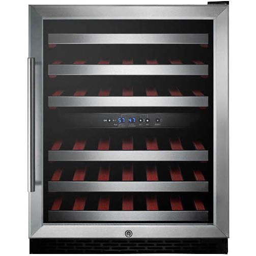 Summit 46 Bottle Built-In / Freestanding Wine Cellar / Cooler - Stainless Steel - SWC530LBISTCSSADA 2909002