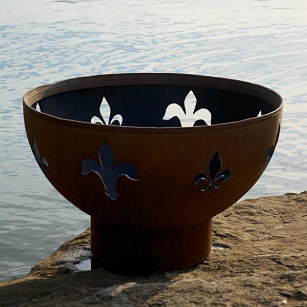 Fire Pit Art Fleur De Lis 36-inch Wood Burning Fire Pit at Sears.com