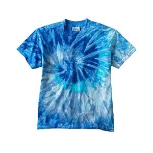 Tie-Dye Youth 100 Percent Cotton T-Shirt Small - Blue Jerry
