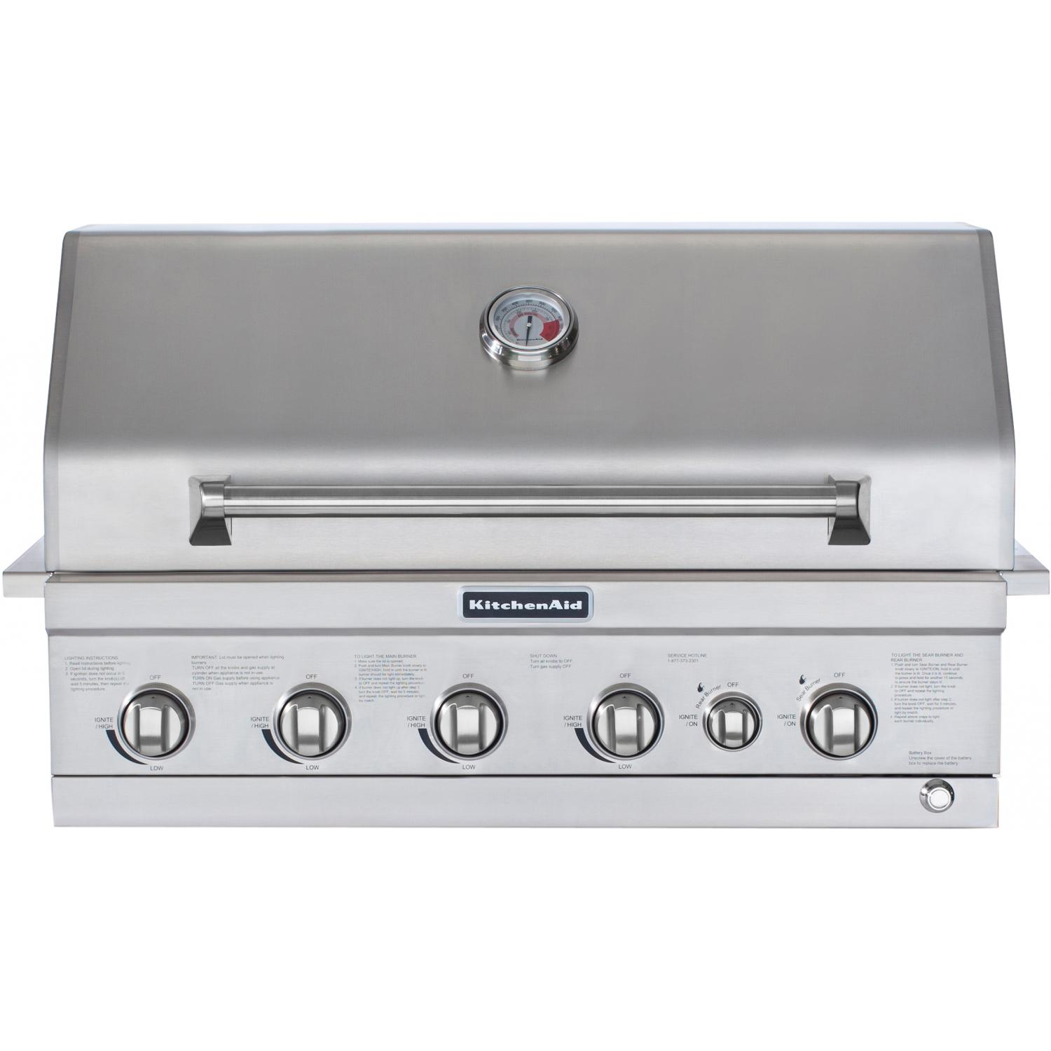 Kitchen Aid Bbq Grill: Kitchenaid 36-inch Propane Gas Built-in Grill With Searing