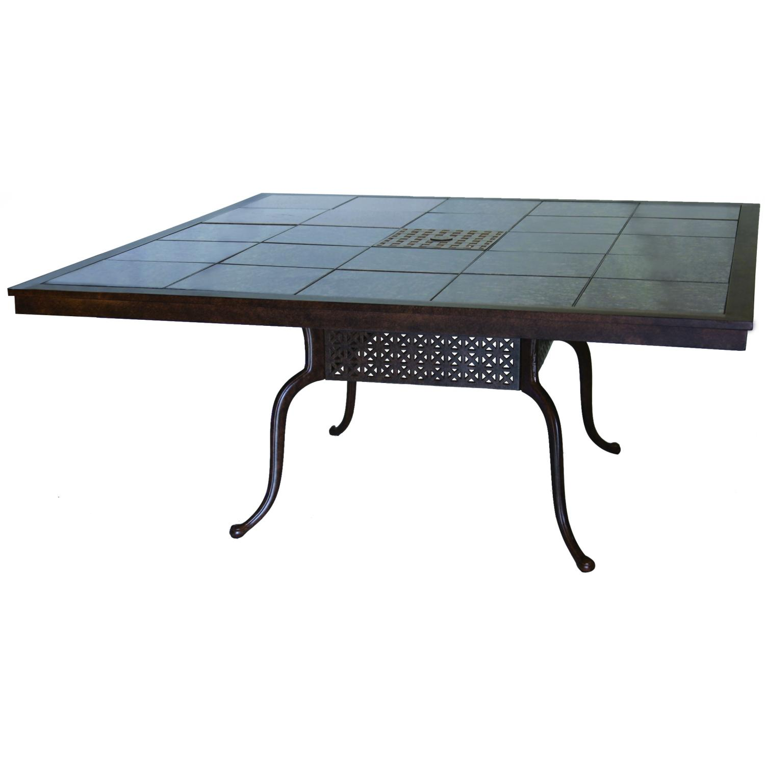 Darlee Series 77 Cast Aluminum Patio Dining Table With Granite Top - Antique Bronze / Brown Granite Tile at Sears.com