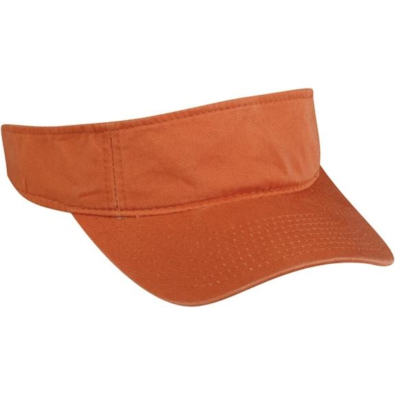Outdoor Cap Garment Washed Twill Visor - Pumpkin, Discount ID GWTV-100-837