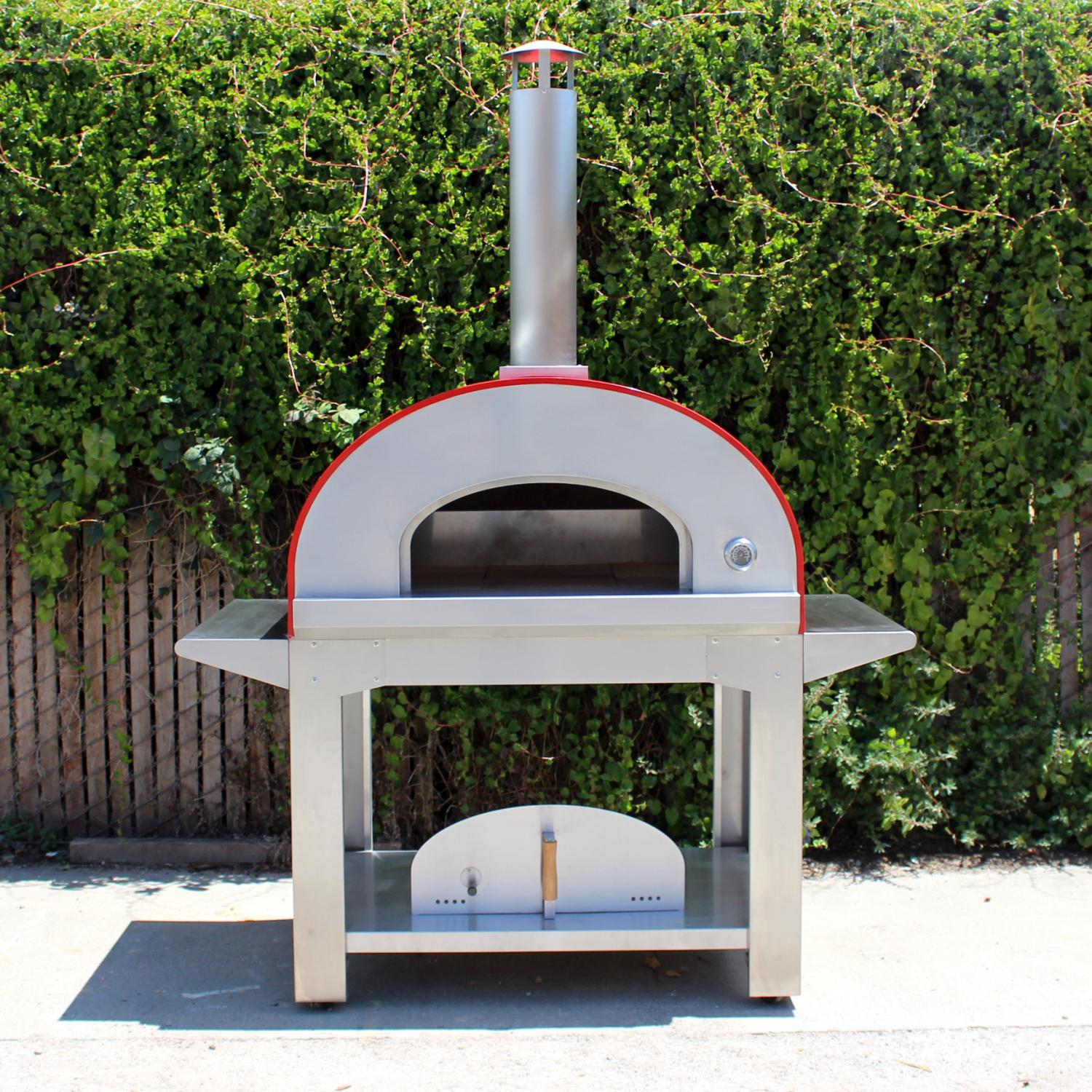 Bella Ultra C40 (40 Inch) Wood Fired Outdoor Pizza Oven On Cart