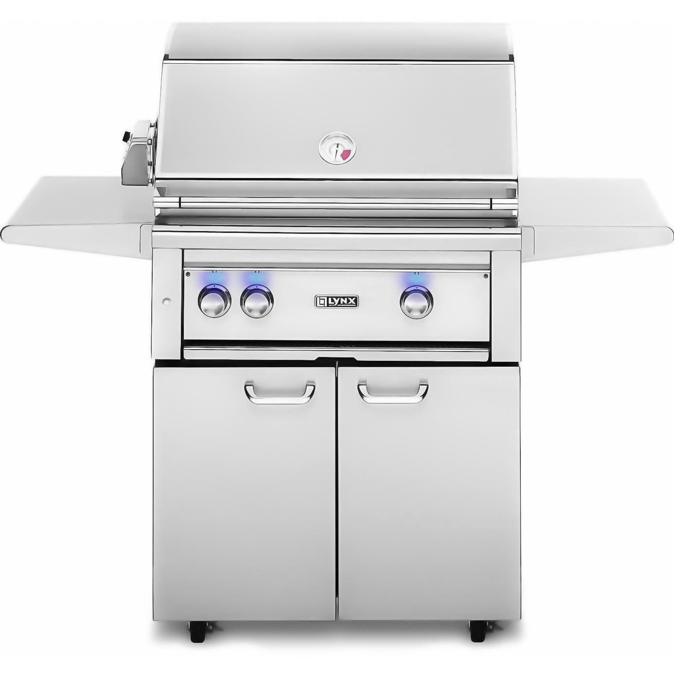 Lynx 30-Inch Natural Gas Grill On Cart With ProSear Burner And Rotisserie L30PSFR-2-NG 2855990
