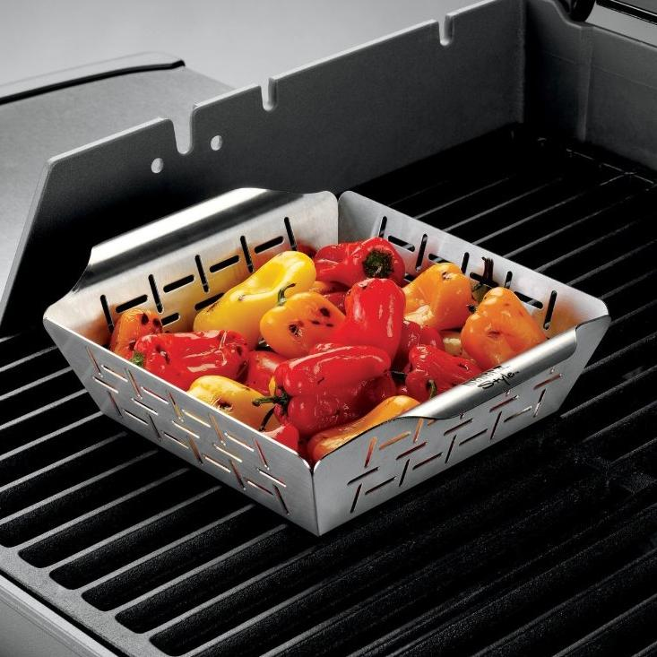 Weber Style 6434 Stainless Steel Vegetable Basket - Large