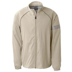 Adidas Golf Mens ClimaProof 3-Stripes Full-Zip Jacket 2XL - Ecru/Sterling