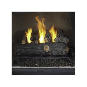 Real Flame 24-Inch Gel Fuel Log Conversion Set - Oak