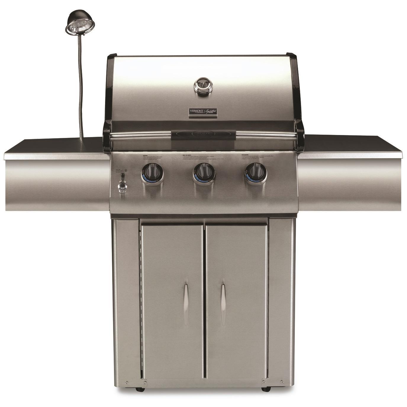 vermont castings 3 burner propane gas grill on cart. Black Bedroom Furniture Sets. Home Design Ideas