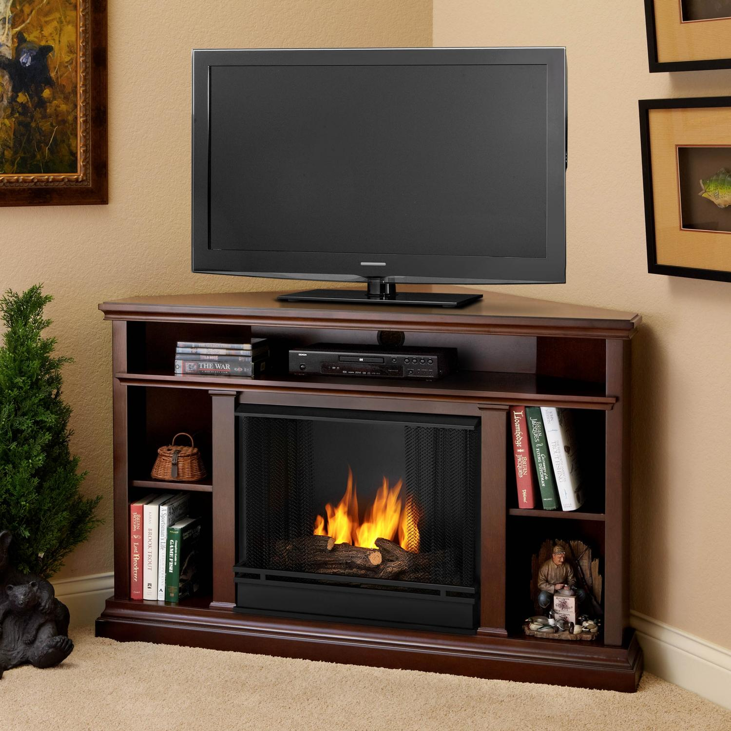 Real Flame Churchill 50-Inch Corner Gel Fireplace - Dark Espresso