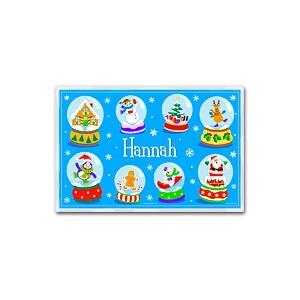 Olive Kids Personalized Laminate Placemat - Snow Globe