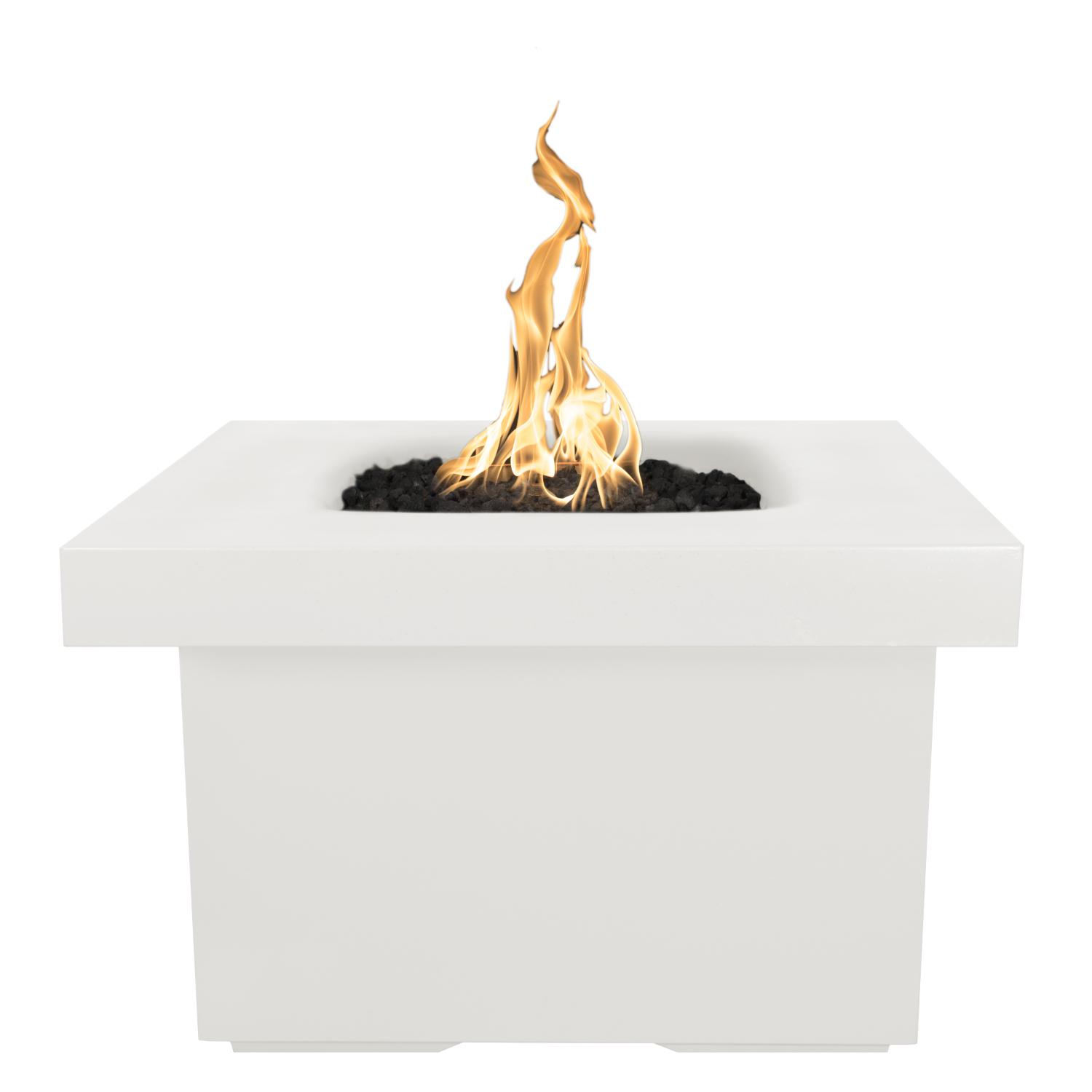 The Outdoor Plus Top Fires by Ramona 36 Natural Gas Fire Table - Limestone Concrete - Match Light - OPT-RMNSQ36-LIM-NG