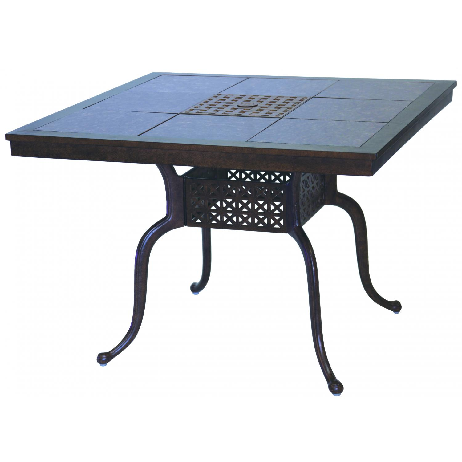Darlee Series 77 Cast Aluminum Patio Dining Table With Granite Top - Mocha / Brown Granite Tile at Sears.com