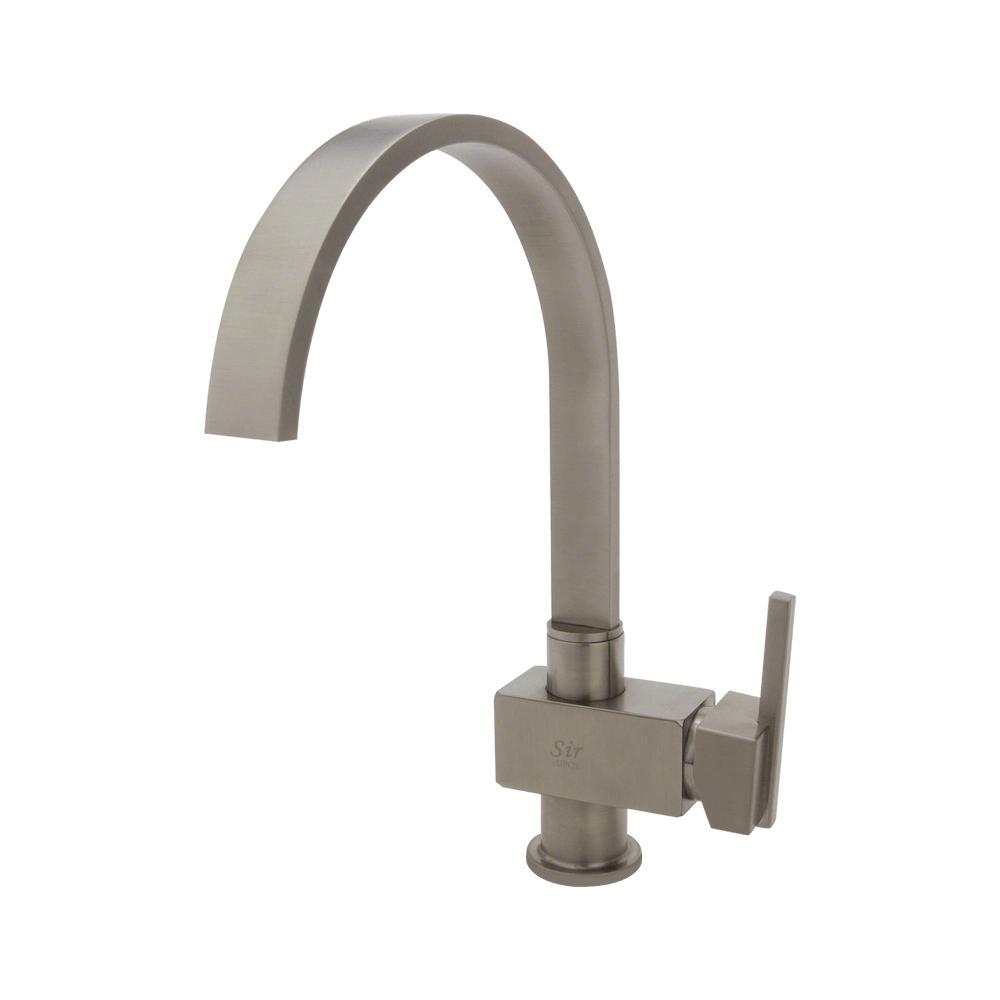 SIR Faucets Single Handle Flat Spout Hot/Cold Faucet - Br...