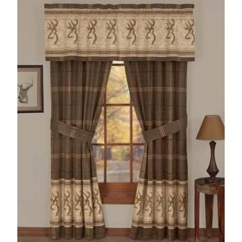 Browning Buckmark Window Curtain