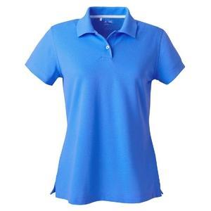 Adidas Golf Ladies ClimaLite Tour Pique Short Sleeve Polo Shirt XL - Gulf/White