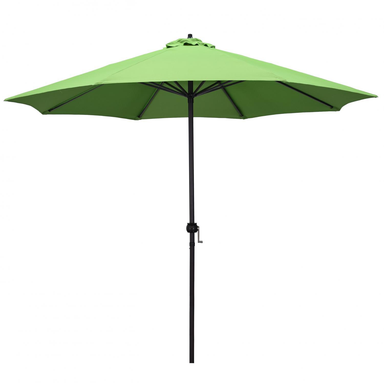 Astella 9 Ft. Aluminum Push Tilt Patio Umbrella W/ Crank Lift - Black Frame / Polyester Green Canopy - Eco908709-p5-21ts