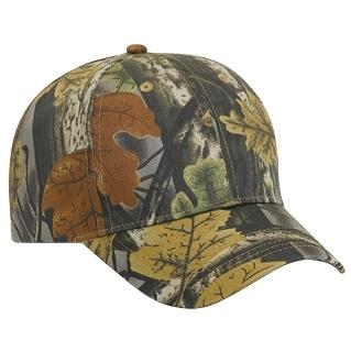 Otto Cap Camo Cotton Twill Low Profile Pro-Style Cap - Black / Dk.Khaki / Charcoal, Discount ID 78-846-035325