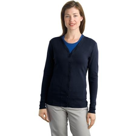 Port Authority Ladies Modern Stretch Cotton Cardigan 3XL - True Navy