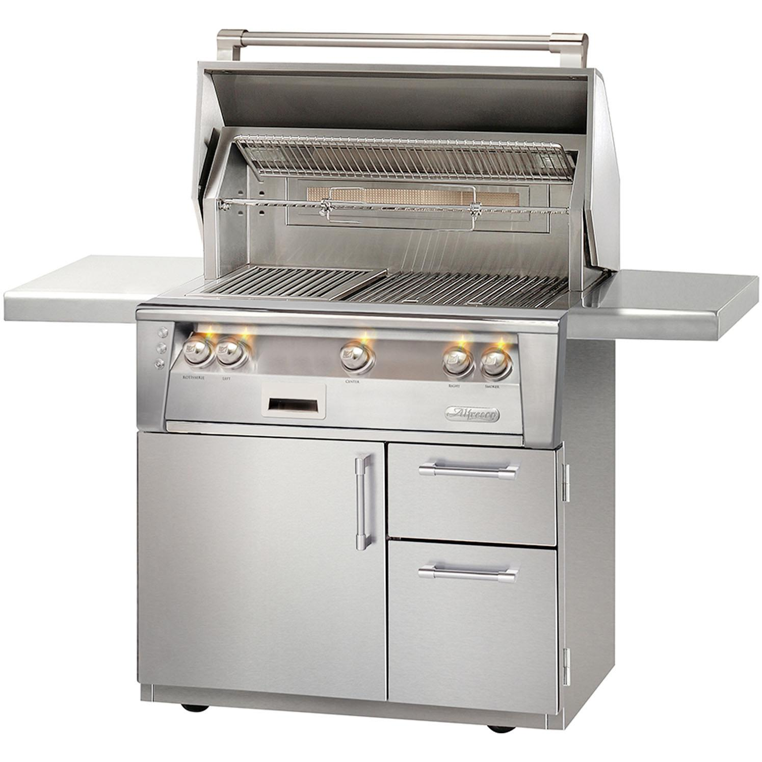 Alfresco LXE 36-Inch Propane Gas Grill On Deluxe Cart With Sear Zone And Rotisserie - ALXE-36SZCD-LP 2911882