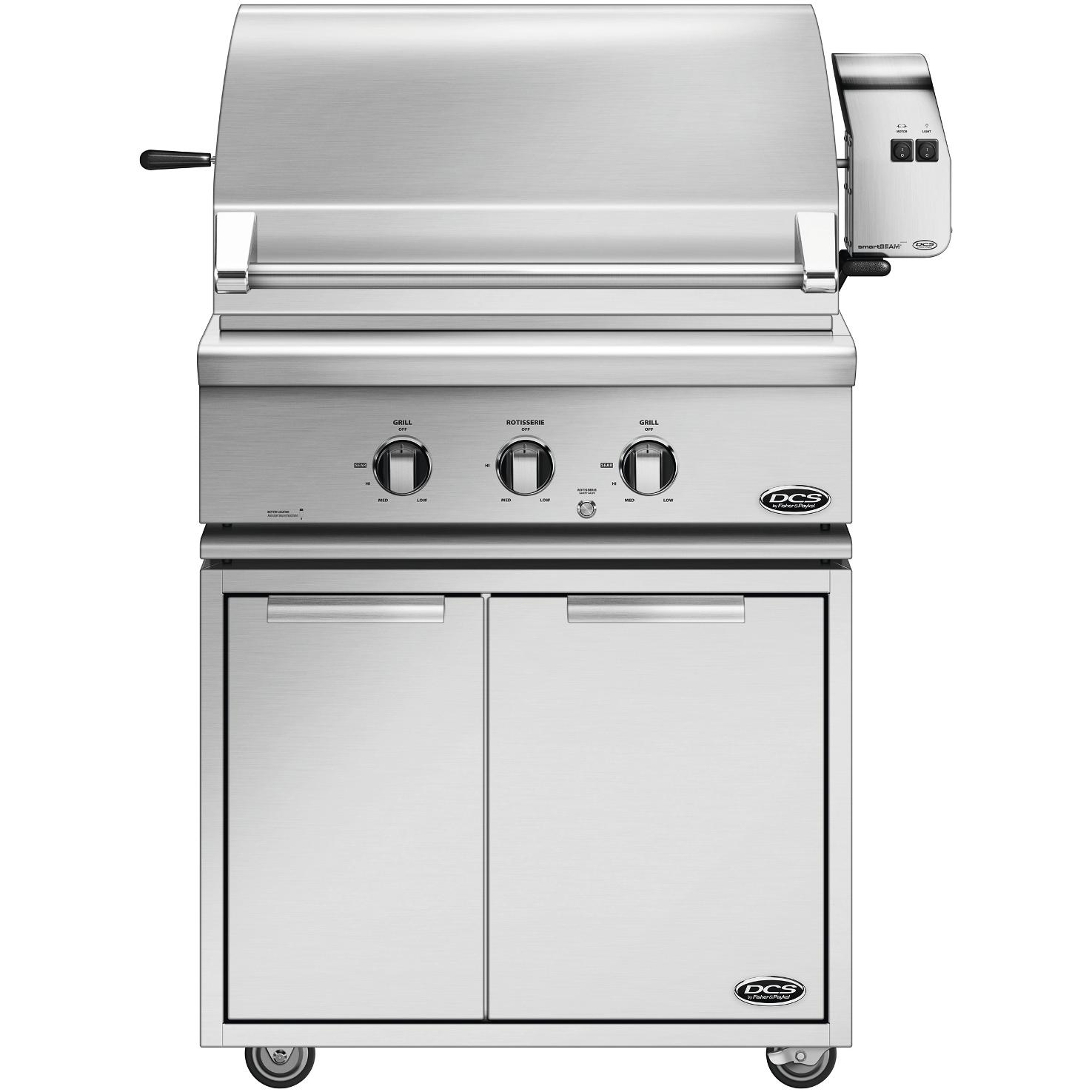 DCS 30-Inch Propane Gas Grill With Rotisserie On CAD Cart - BGC30-BQR-L - 2015 Model 2896776