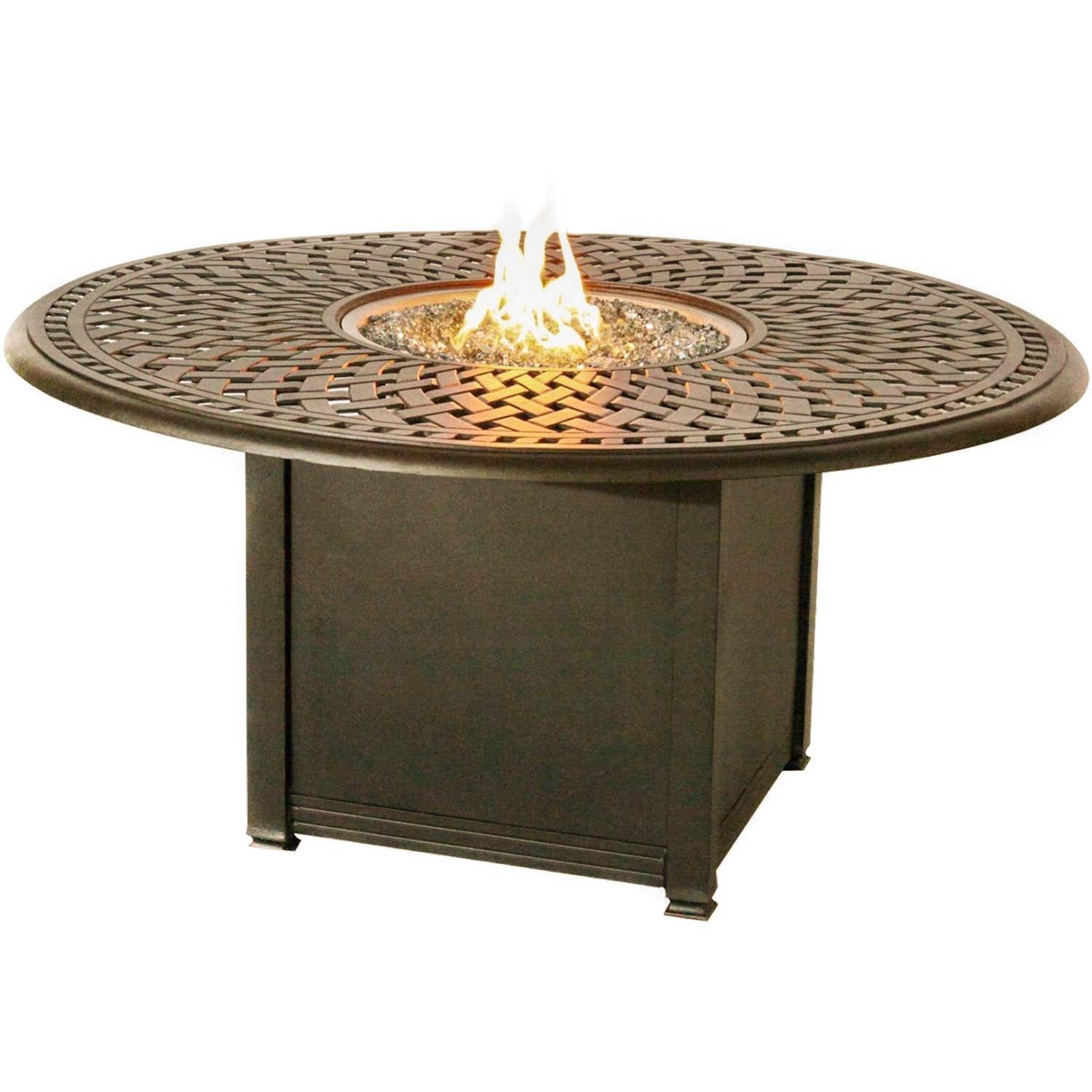 Signature 60-Inch Propane Fire Pit Dining Table By Darlee...