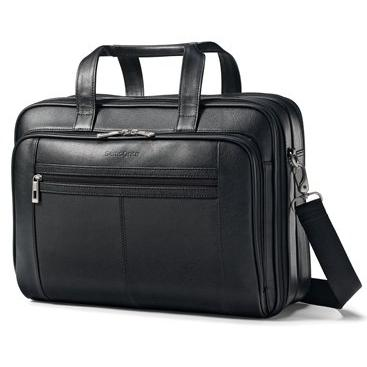 Samsonite Checkpoint-Friendly Leather Business Case - Black