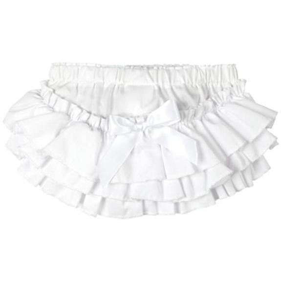 Elegant Baby Ruffled Bloomers 12/18 Month - White