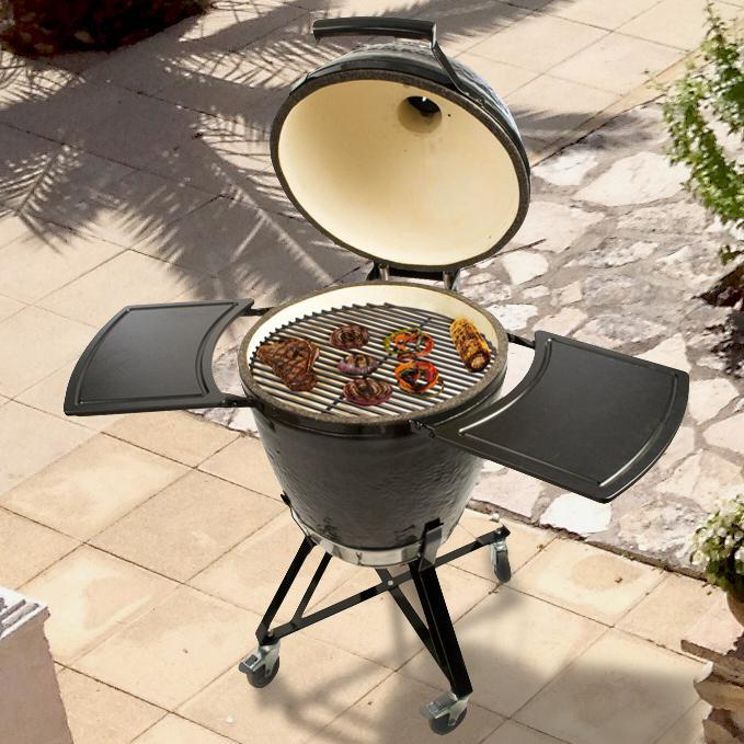 Primo All-In-One Ceramic Kamado Grill With Cradle & Side ...