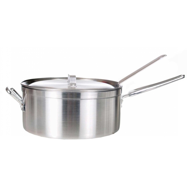 Cajun Cookware Pots With Basket 12 Inch Aluminum Fry Pot