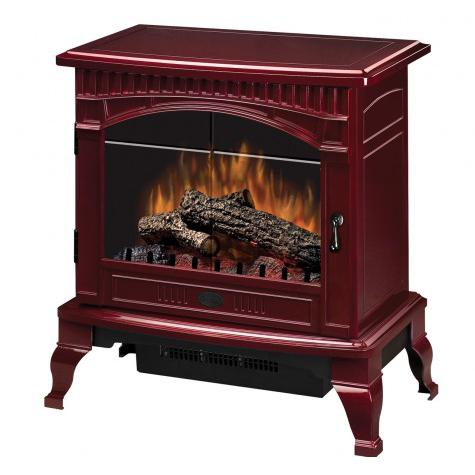 Dimplex 25-Inch Electric Stove - Standard Logs - Gloss Cr...