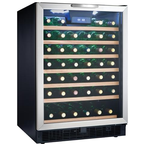Danby DWC508BLS 50 Bottle Built-In Wine Cooler - Glass Door / Stainless Steel Trim