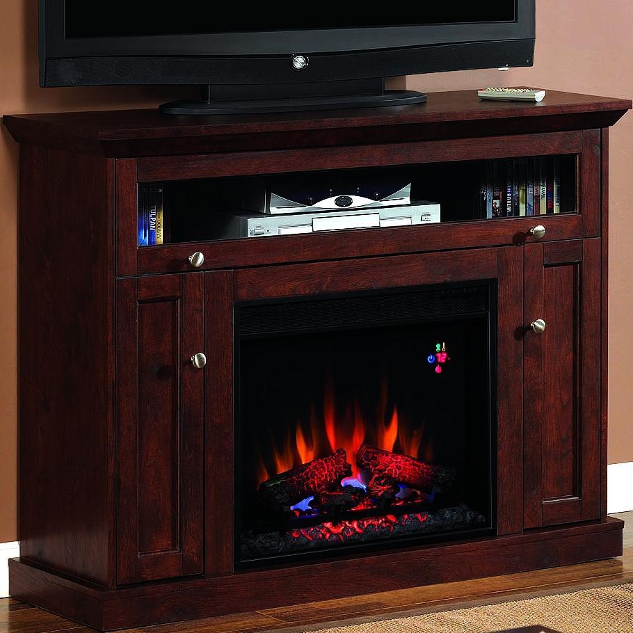 Windsor 46-inch Electric Fireplace Media Console - Antique Cherry - 23de9047