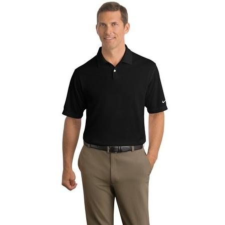 Nike Golf Dri-FIT Pebble Texture Polo Shirt Medium - Black 2671090