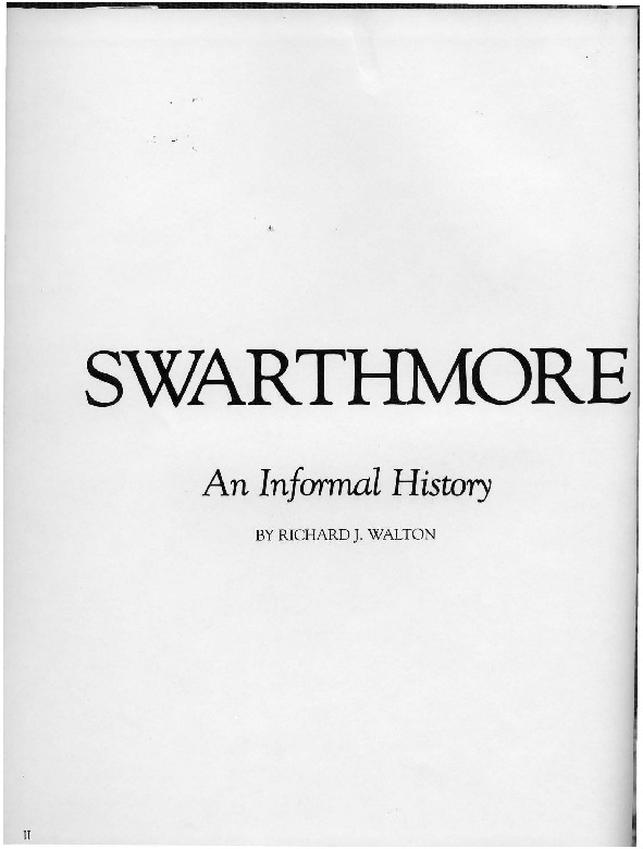Swarthmore College: An Informal History