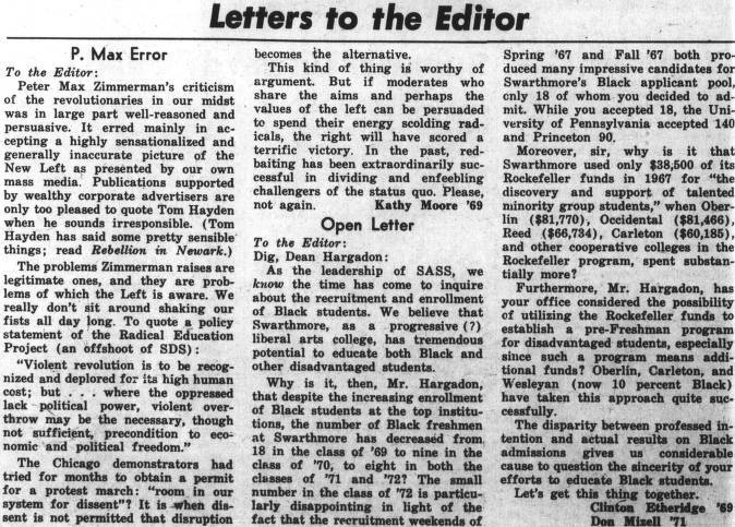 Letters to the Editor: Open Letter