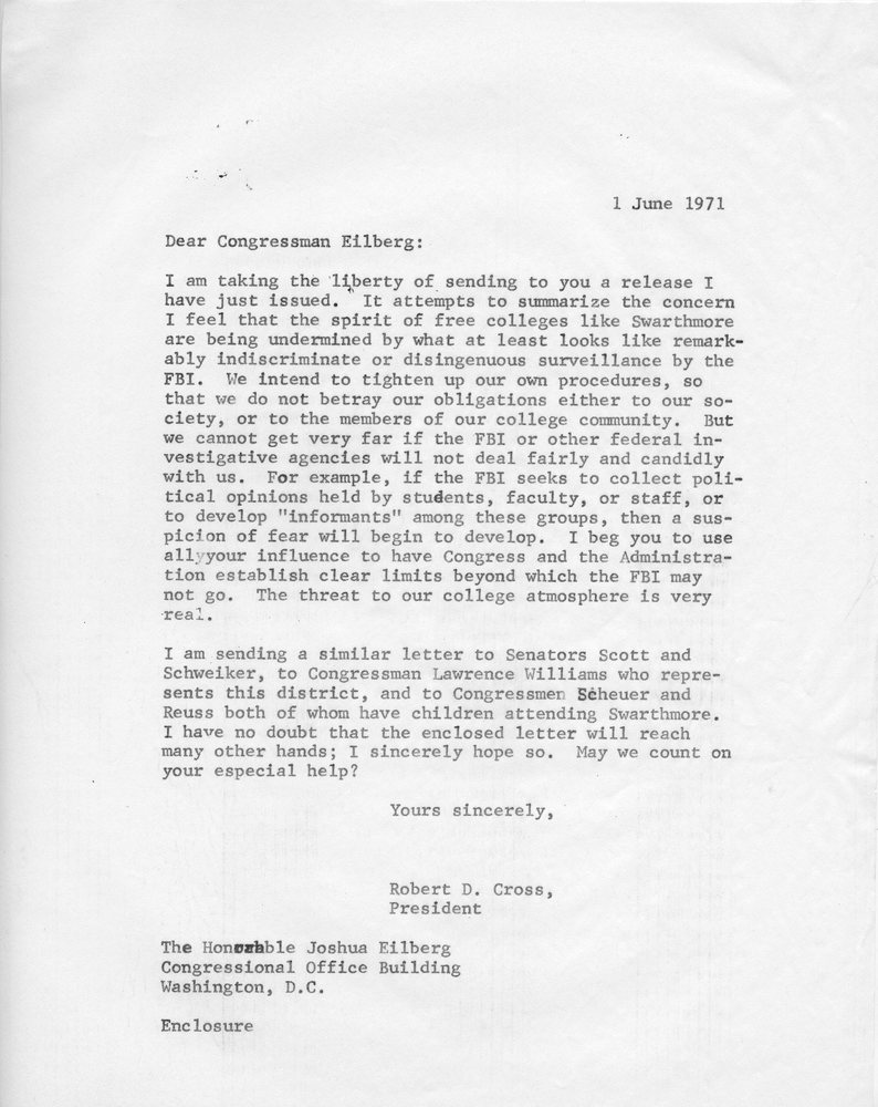 Letter to Rep Eilberg 1 June 1971.jpg