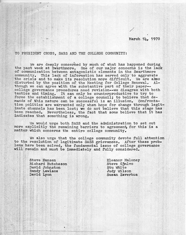Open letter from students, 14 March 1970.jpg