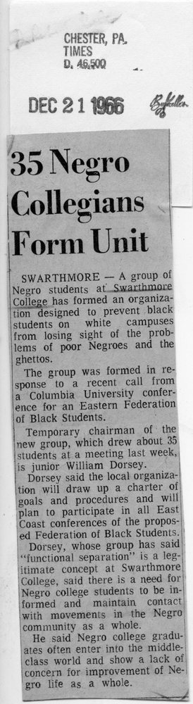 Chester Times, _35 Negro Collegians Form Unit_ 12-21-1966.jpg