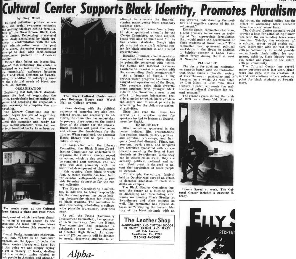 Cultural Center Supports Black Identity, Promotes Pluralism November_12_1971.jpg