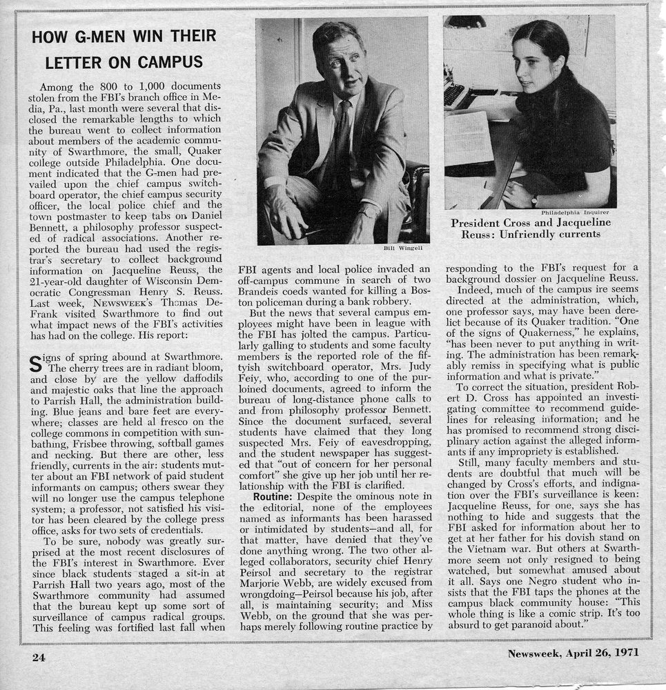Newsweek, _How G-Men Win Their Letter on Campus_ 26 April 1971.jpg