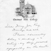 [Letter from Louise Bolger, 01/1969]
