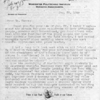 [Letter from David Todd to Joseph Shane, 01/27/1969]