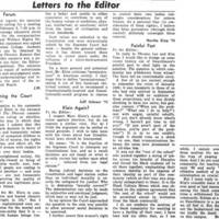 Letters to the Editor: Painful Past
