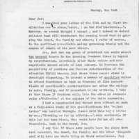[Letter from Charles Eberle to Joseph Shane, 01/16/1969]